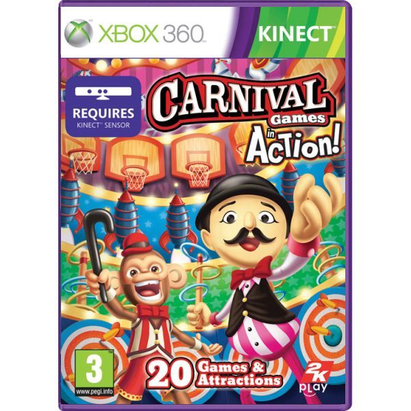 Carnival Games in Action Kinect Xbox 360