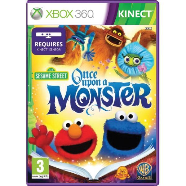 Sesame Street Once Upon a Monster Kinect Xbox 360